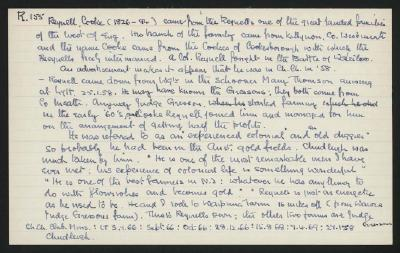 Macdonald Dictionary Record: Cooke Reynell