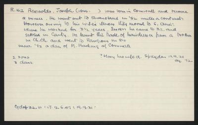 Macdonald Dictionary Record: Joseph Reynolds