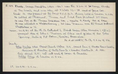 Macdonald Dictionary Record: George Hampton Rhodes