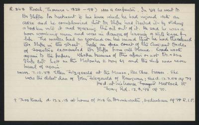 Macdonald Dictionary Record: Thomas Roach