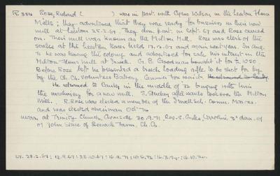 Macdonald Dictionary Record: Richard Rose