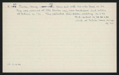 Macdonald Dictionary Record: Henry Rutter