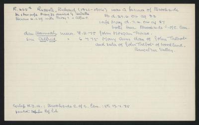 Macdonald Dictionary Record: Richard Russell