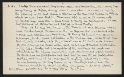 Macdonald Dictionary Record: Edward or Edwin Sealey; 1952-1964;