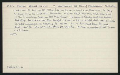 Macdonald Dictionary Record: Daniel Seaton