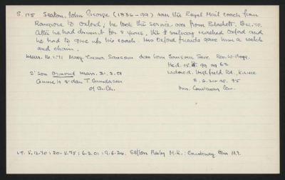 Macdonald Dictionary Record: John George Seaton