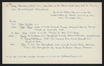 Macdonald Dictionary Record: Thomas Seay