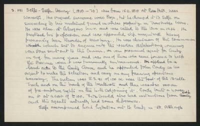 Macdonald Dictionary Record: Henry Selfe-Selfe; 1952-1964;