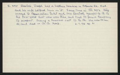 Macdonald Dictionary Record: Joseph Sherlock