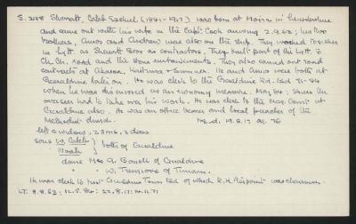 Macdonald Dictionary Record: Caleb Ezekiel Sherratt