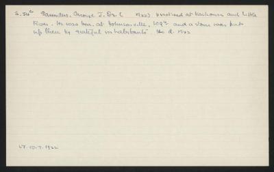 Macdonald Dictionary Record: George J Saunders