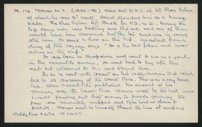 Macdonald Dictionary Record: W F Warner; 1952-1964;