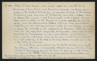 Macdonald Dictionary Record: John Cracroft Wilson; 1952-1964;