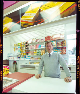 Negative: Unnamed Man Linwood Shell Station