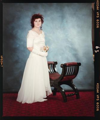 Negative: Girl At Marian College Debutante Ball 1989