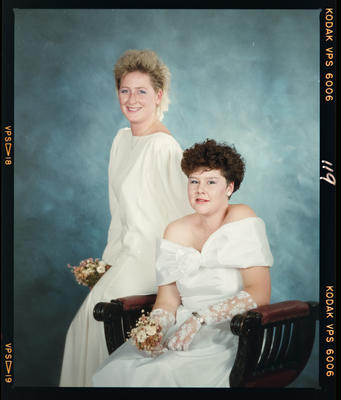 Negative: Two Girls Marian College Debutante Ball 1989