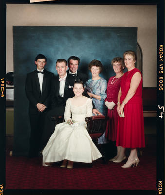 Negative: Girl And Family Marian College Debutante Ball 1989