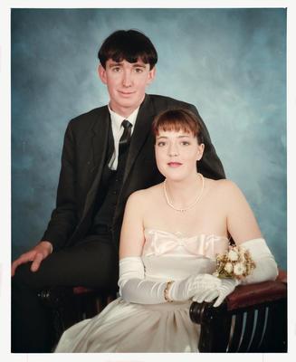 Negative: Girl And Man Marian College Debutante Ball 1989