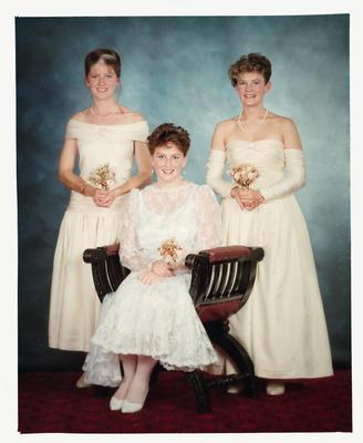 Negative: Three Girls Marian College Debutante Ball 1989