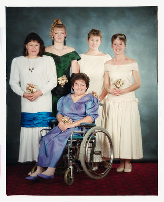 Negative: Five Girls Marian College Debutante Ball 1989