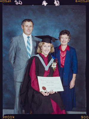 Negative: Shelley Johnstone University Of Canterbury Graduation 1989