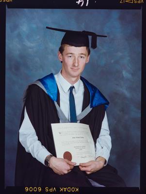 Negative: John Laban University Of Canterbury Graduation 1989
