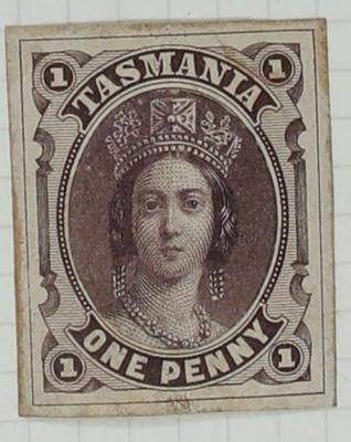 Stamp: Tasmania One Penny