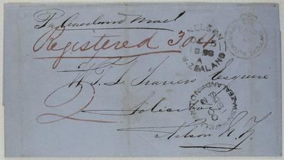 Envelope: New Zealand Frank Stamp