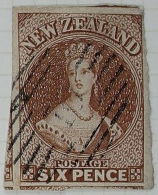 Stamp: New Zealand Six Pence