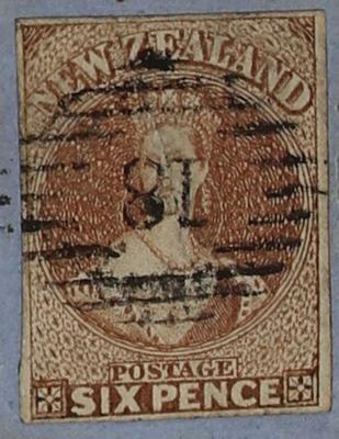 Envelope: New Zealand Six Pence Stamp Attached