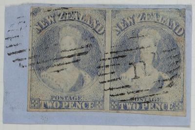 Envelope Section: New Zealand Two Pence Stamps Attached