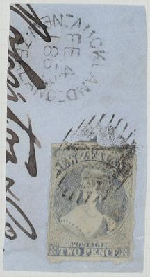 Envelope Section: New Zealand Two Pence Stamp Attached