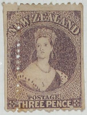 Stamp: New Zealand Three Pence