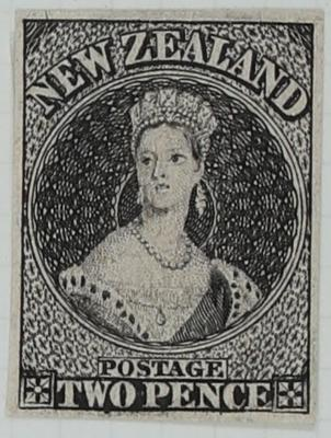 Stamp: Official Reproduction,  New Zealand Two Pence