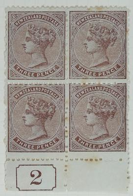 Stamps: New Zealand Three Pence