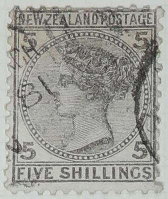 Stamp: New Zealand Five Shillings
