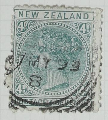 Stamp: New Zealand Four Pence