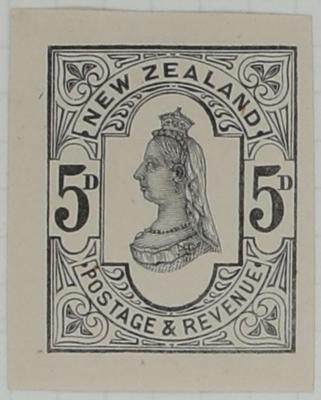 Proof of Stamp: New Zealand Five Pence