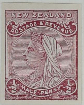 Proof of Stamp: New Zealand Half Penny