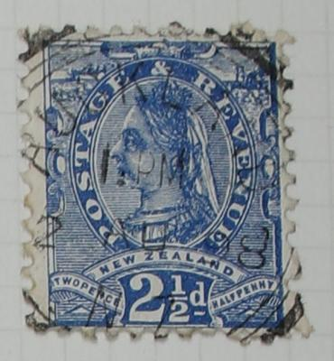 Stamp: New Zealand Two and a Half Pence