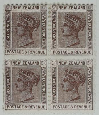 Stamps: New Zealand Six Pence