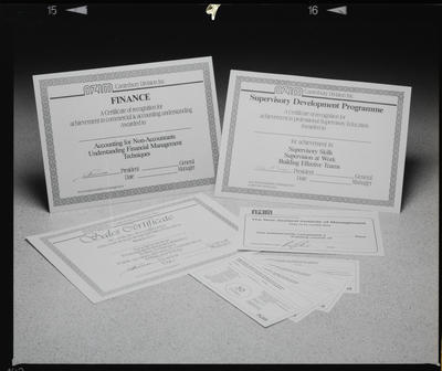 Negative: New Zealand Institute Of Management Certificates