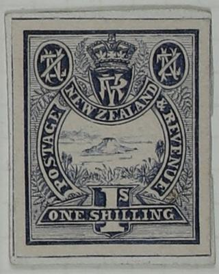 Stamp Essay: New Zealand One Shilling