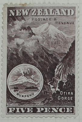 Stamp: New Zealand Five Pence