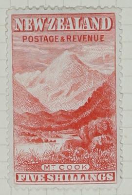 Stamp: New Zealand Five Shilling