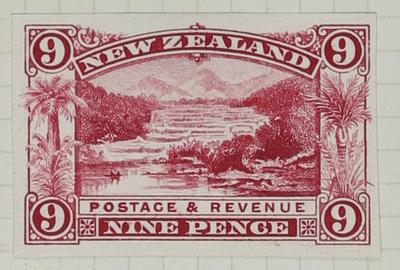 Proof of Stamp: New Zealand Nine Pence
