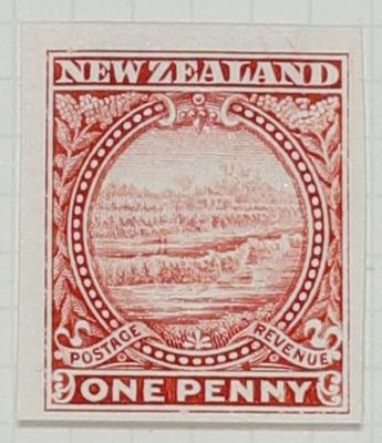Proof of Stamp: New Zealand One Penny