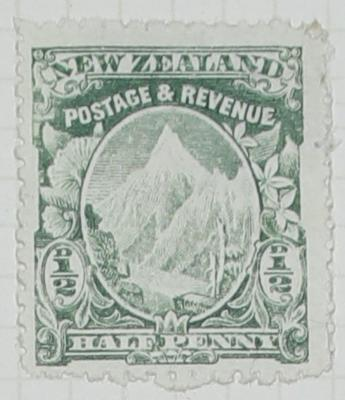 Stamp: New Zealand Half Penny
