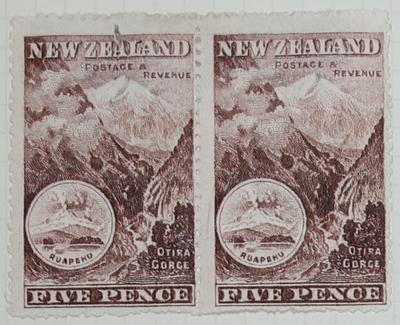 Stamps: New Zealand Five Pence
