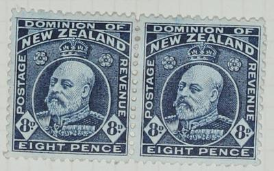 Stamps: New Zealand Eight Pence